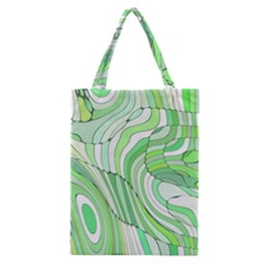 Retro Abstract Green Classic Tote Bags