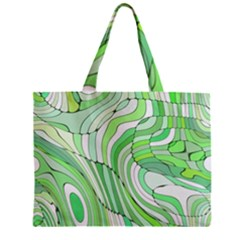 Retro Abstract Green Zipper Tiny Tote Bags
