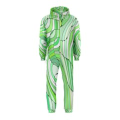 Retro Abstract Green Hooded Jumpsuit (kids)