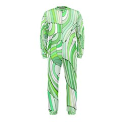 Retro Abstract Green Onepiece Jumpsuit (kids)