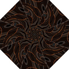 Retro Abstract Orange Black Straight Umbrellas