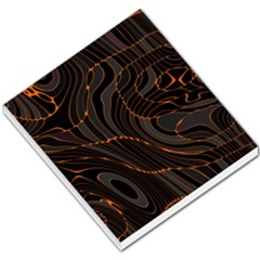 Retro Abstract Orange Black Small Memo Pads