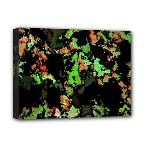 Splatter Red Green Deluxe Canvas 16  x 12