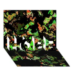 Splatter Red Green HOPE 3D Greeting Card (7x5)