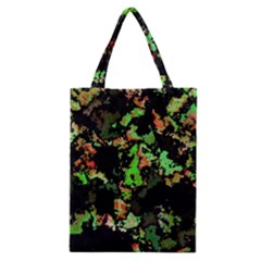 Splatter Red Green Classic Tote Bags