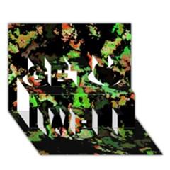 Splatter Red Green Get Well 3D Greeting Card (7x5)