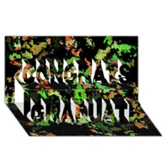 Splatter Red Green Congrats Graduate 3d Greeting Card (8x4)