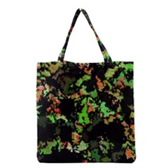 Splatter Red Green Grocery Tote Bags