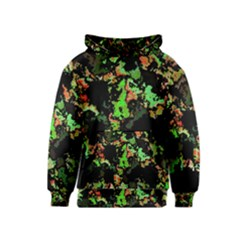 Splatter Red Green Kid s Pullover Hoodies
