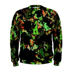 Splatter Red Green Men s Sweatshirts