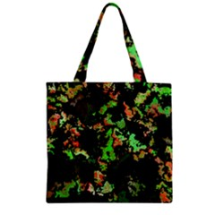 Splatter Red Green Zipper Grocery Tote Bags