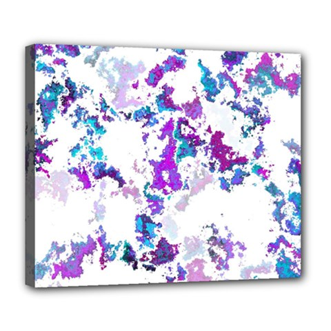 Splatter White Lilac Deluxe Canvas 24  x 20