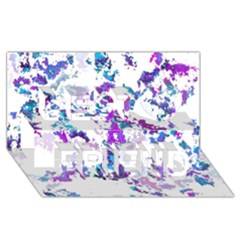 Splatter White Lilac Best Friends 3D Greeting Card (8x4)