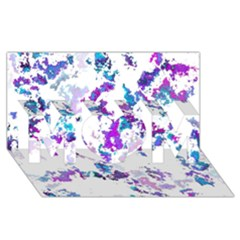 Splatter White Lilac MOM 3D Greeting Card (8x4)