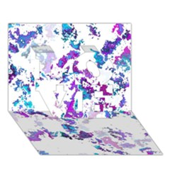 Splatter White Lilac Love 3d Greeting Card (7x5)