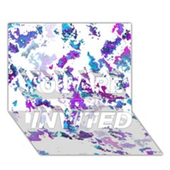Splatter White Lilac You Are Invited 3d Greeting Card (7x5)