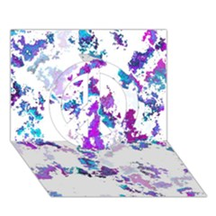 Splatter White Lilac Peace Sign 3D Greeting Card (7x5)