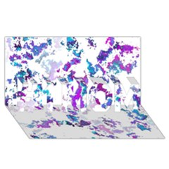 Splatter White Lilac #1 MOM 3D Greeting Cards (8x4)