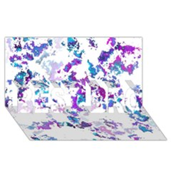Splatter White Lilac Best Bro 3d Greeting Card (8x4)