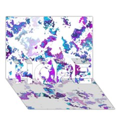 Splatter White Lilac HOPE 3D Greeting Card (7x5)