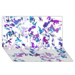 Splatter White Lilac #1 DAD 3D Greeting Card (8x4)