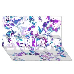 Splatter White Lilac BELIEVE 3D Greeting Card (8x4)