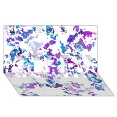 Splatter White Lilac SORRY 3D Greeting Card (8x4)