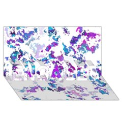 Splatter White Lilac ENGAGED 3D Greeting Card (8x4)