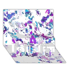 Splatter White Lilac You Did It 3D Greeting Card (7x5)