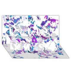Splatter White Lilac Merry Xmas 3d Greeting Card (8x4)