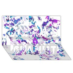 Splatter White Lilac Congrats Graduate 3D Greeting Card (8x4)