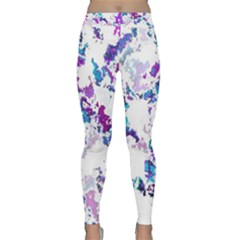 Splatter White Lilac Yoga Leggings