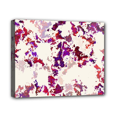 Splatter White Canvas 10  x 8