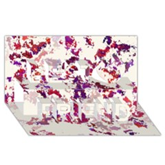 Splatter White Best Friends 3d Greeting Card (8x4)