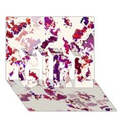 Splatter White Girl 3d Greeting Card (7x5)