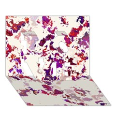 Splatter White LOVE 3D Greeting Card (7x5)