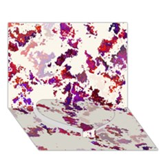 Splatter White Heart Bottom 3D Greeting Card (7x5)