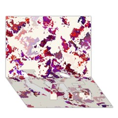 Splatter White LOVE Bottom 3D Greeting Card (7x5)