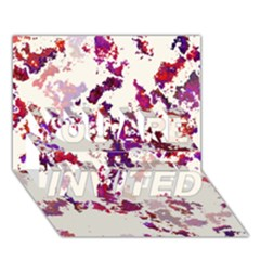 Splatter White You Are Invited 3d Greeting Card (7x5)