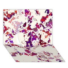 Splatter White Apple 3D Greeting Card (7x5)
