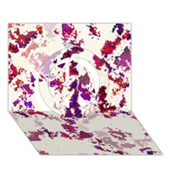 Splatter White Peace Sign 3D Greeting Card (7x5)