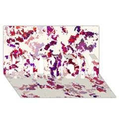 Splatter White #1 MOM 3D Greeting Cards (8x4)