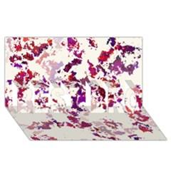 Splatter White BEST BRO 3D Greeting Card (8x4)