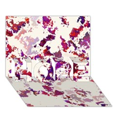 Splatter White Hope 3d Greeting Card (7x5)