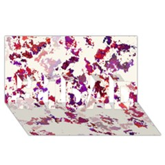 Splatter White #1 DAD 3D Greeting Card (8x4)