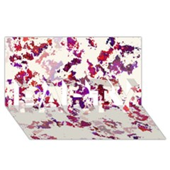 Splatter White PARTY 3D Greeting Card (8x4)