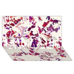 Splatter White Engaged 3d Greeting Card (8x4)