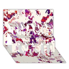 Splatter White Thank You 3d Greeting Card (7x5)