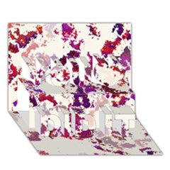 Splatter White You Did It 3d Greeting Card (7x5)