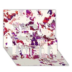 Splatter White Get Well 3D Greeting Card (7x5)
